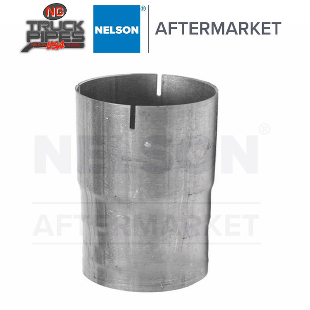 """2.5"""" OD-ID Straight Connector Aluminized Exhaust Nelson 89250A"""