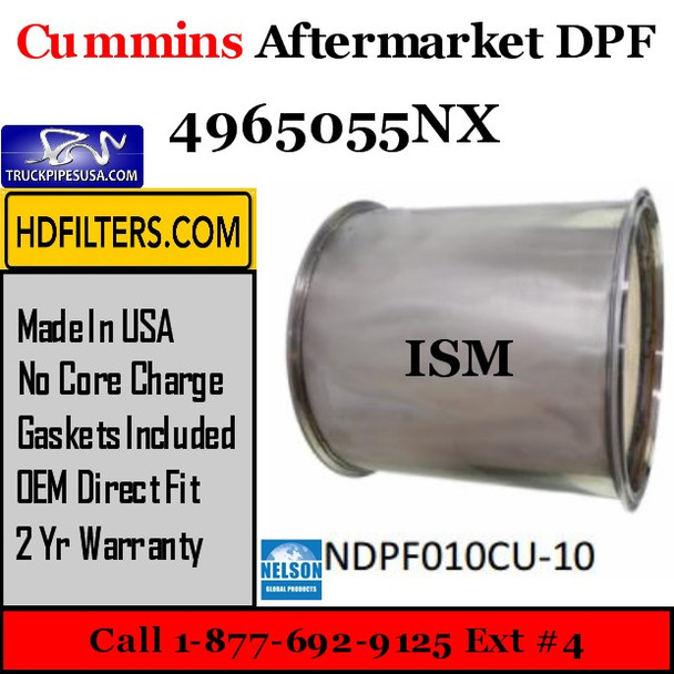 4965055NX-NDPF010CU-10 4965055NX Cummins ISM  Engine Diesel Particulate Filter DPF