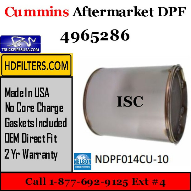 4965286-NDPF014CU-10 4965286 Cummins ISC Engine Diesel Particulate Filter DPF