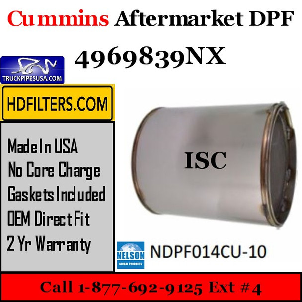 4969839NX-NDPF014CU-10 4969839NX Cummins ISC Engine Diesel Particulate Filter DPF