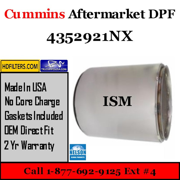 4352921NX-NDPF056CU-10 4352921NX Cummins ISM Engine Diesel Particulate Filter DPF