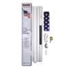 18' In-Ground Steel Flag Pole - Flag Included