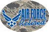 Air Force (Retired) Oval Magnet