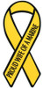 "8"" Yellow Ribbon Magnet - Proud Wife of a Marine"