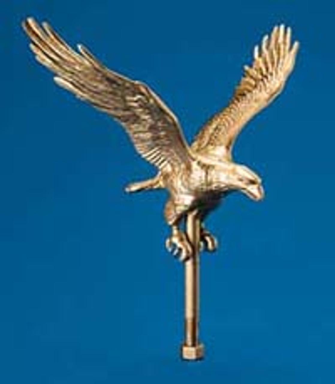Flag Pole Flying Eagle Ornaments - Aluminum