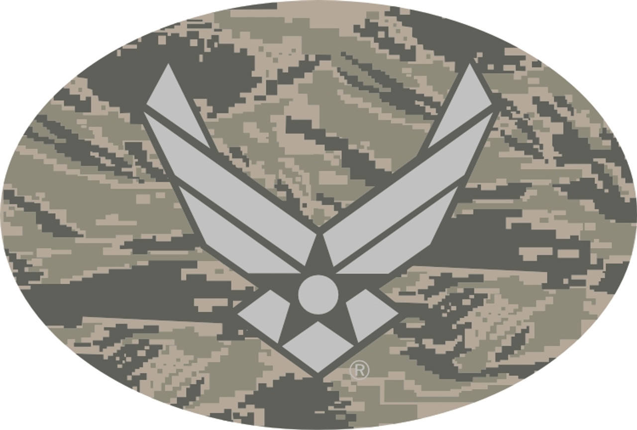 Air Force ABU Pattern w/Wing Oval Magnet