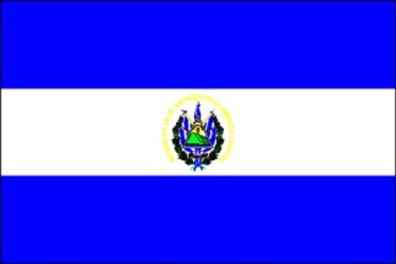 El Salvador with Seal (UN OAS) - Indoor Flags