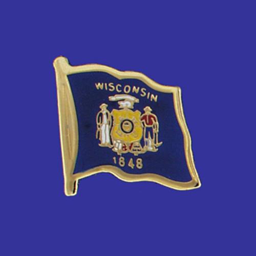 Wisconsin Single Flag Lapel Pin