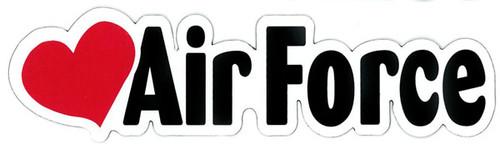 "Air Force (w/Heart) - 2"" x 7"" Magnet"