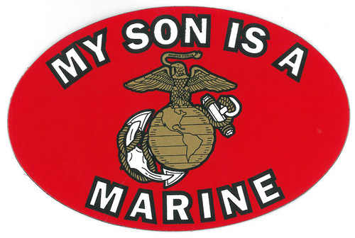 """My Son is a Marine"" Oval Magnet"