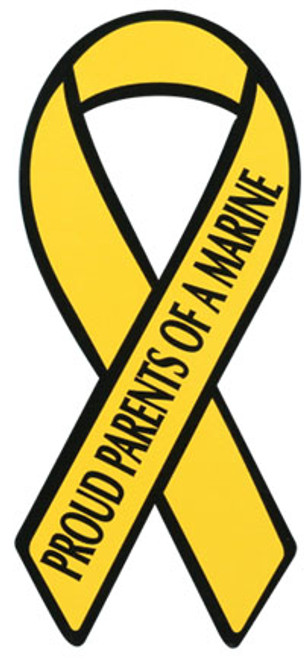 "8"" Yellow Ribbon Magnet - Proud Parents of a Marine"