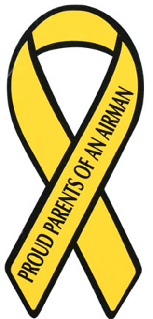 "8"" Yellow Ribbon Magnet - ""Proud Parents of an Airman"""