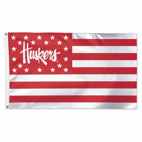 Nebraska (Stars & Stripes) - Deluxe 3' x 5' Flag