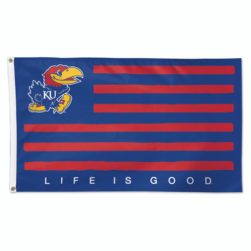 Kansas (Life Is Good) - Deluxe 3' x 5' Flag