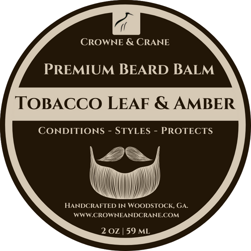 TOBACCO LEAF & AMBER CONDITIONING BEARD BALM - 2 OZ