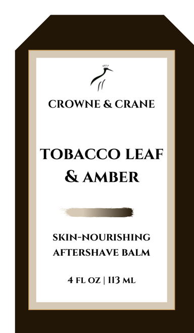 TOBACCO LEAF & AMBER AFTERSHAVE BALM