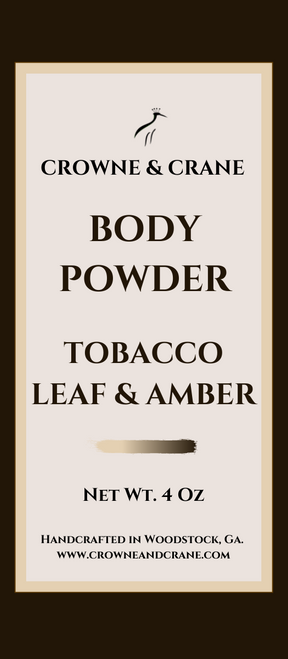 BODY POWDER - TOBACCO LEAF & AMBER