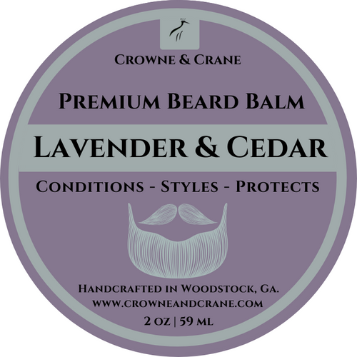 LAVENDER & CEDAR CONDITIONING BEARD BALM - 2 OZ