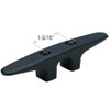 6 Inch Black Plastic Hollow Base Cleat for Boats and Docks