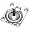 1-3/4 x 1-3/8 Inch Chrome Plated Zinc Flush Ring Pull for Boats, RVs and More