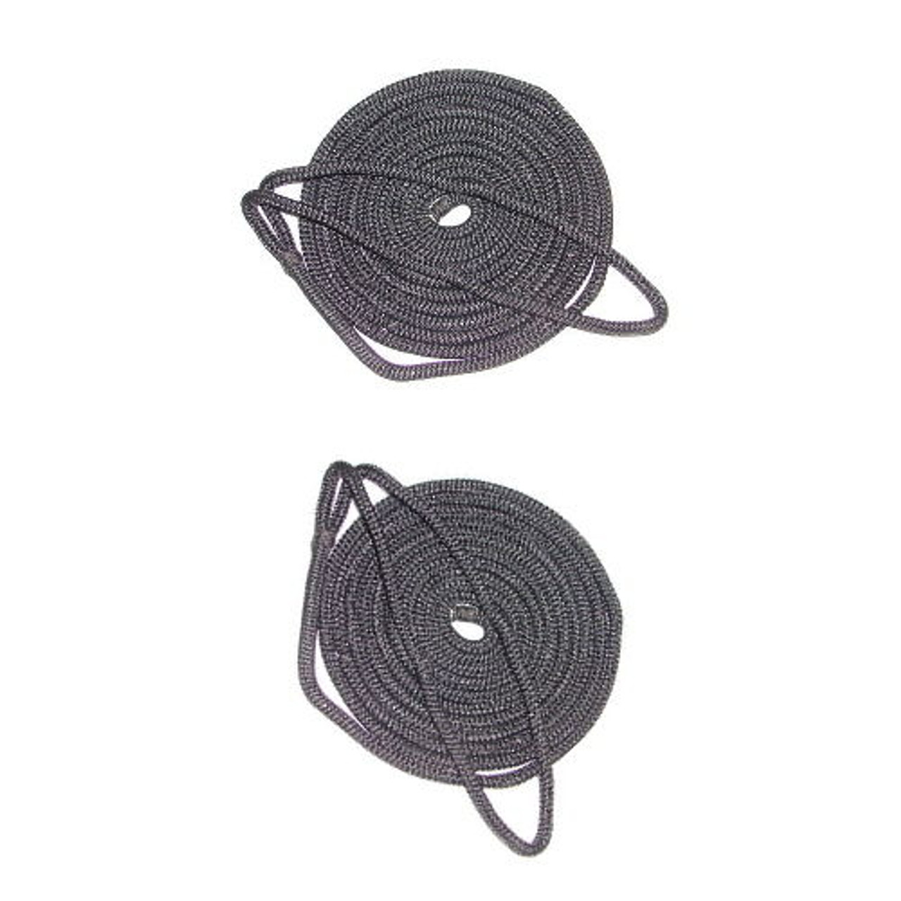 3//8 Inch x 25 Ft Black Double Braid Nylon Mooring and Docking Line for Boats