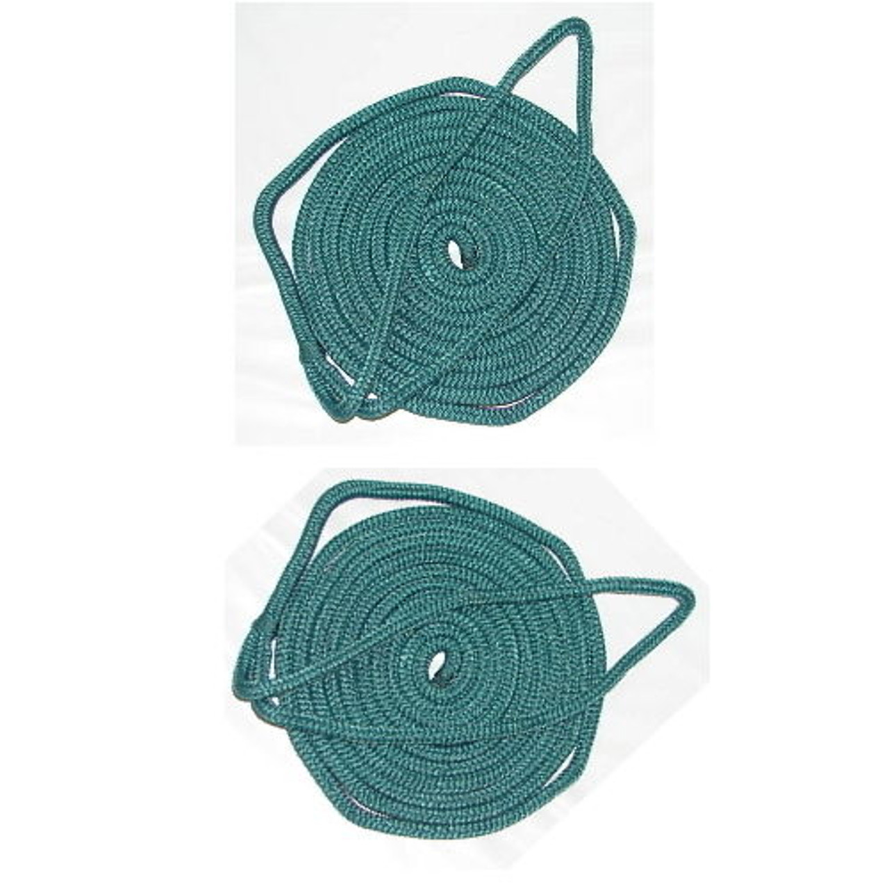 2 Pack of 3//8 Inch x 6 Ft Navy Blue Double Braid Nylon Fender Lines for Boats