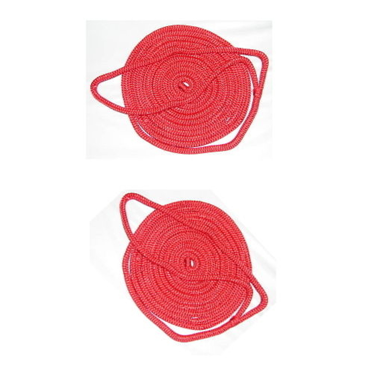 6 Pack of 3//8 Inch x 6 Ft Gold /& White Double Braid Nylon Fender Lines for Boats