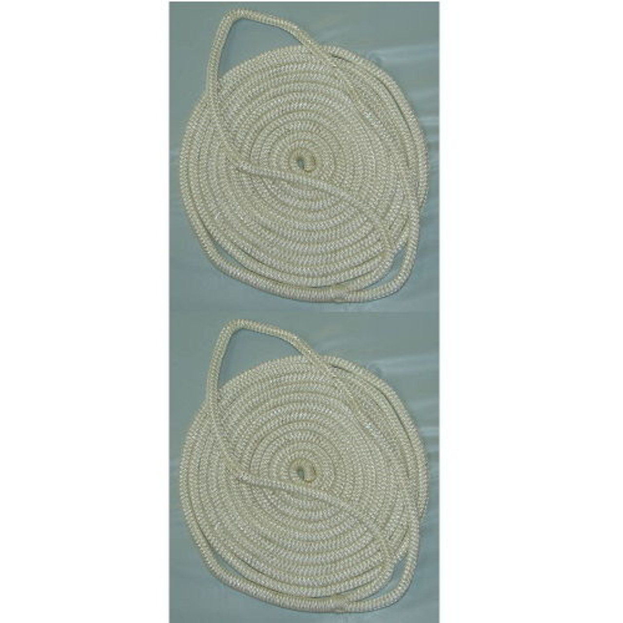 2 Pack of 3//8 Inch x 6 Ft Forest Green Double Braid Nylon Fender Lines for Boats