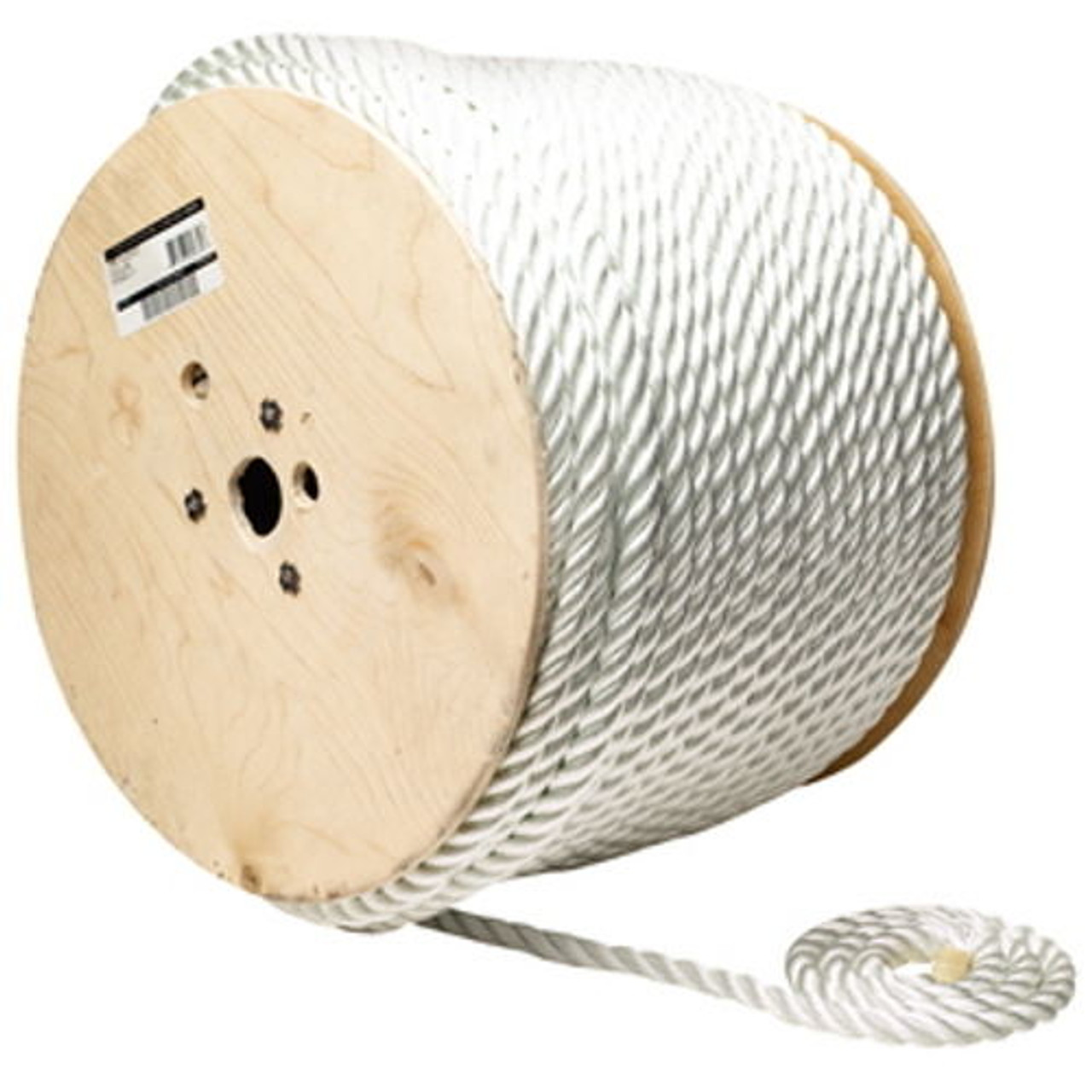 5//16 Inch x 600 Ft Premium Three Strand Twisted Nylon Rope Spool for Boats