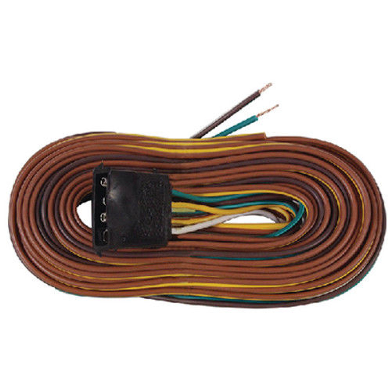 """25 Ft Boat Trailer """"Y"""" Wishbone Wiring Harness Kit with Flat 4 Way Connector"""