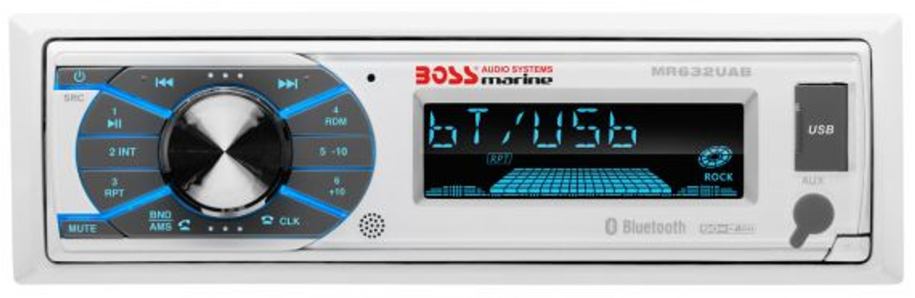 Boss Marine Bluetooth In-Dash MP3 / USB / SD Digital Media AM / FM Marine Stereo Receiver