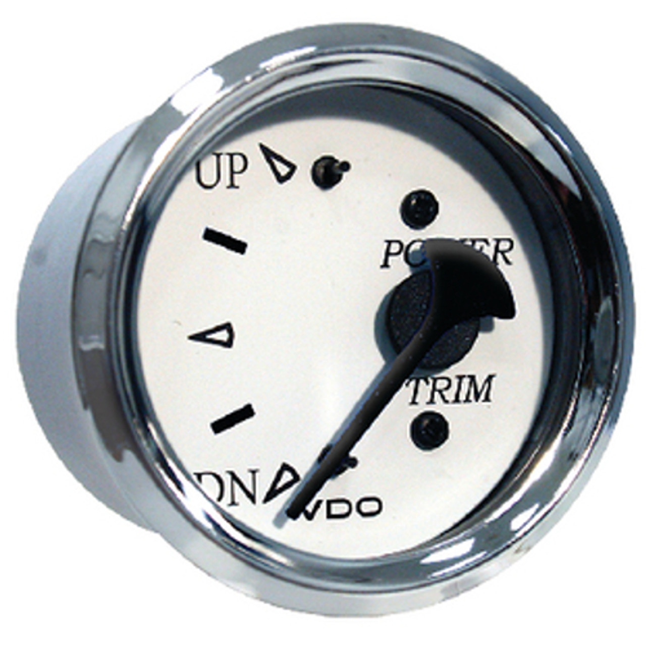 White Faced Honda Outboard Trim Gauge with Chrome Bezel for Boats
