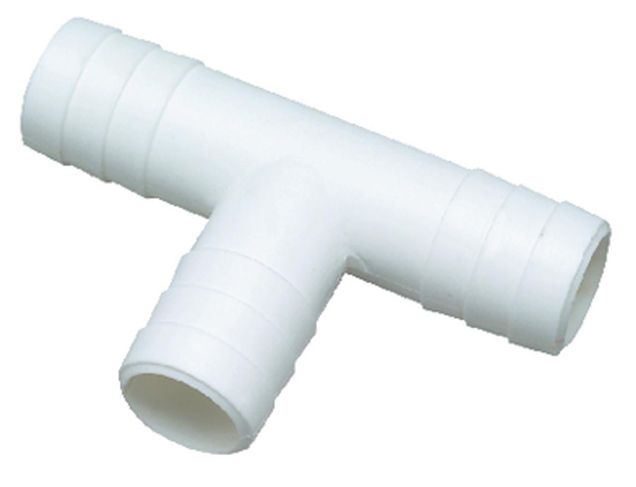 1-1//8 Inch Extra Long Plastic Thru-Hull Bilge Pump Hose Fitting for Boats