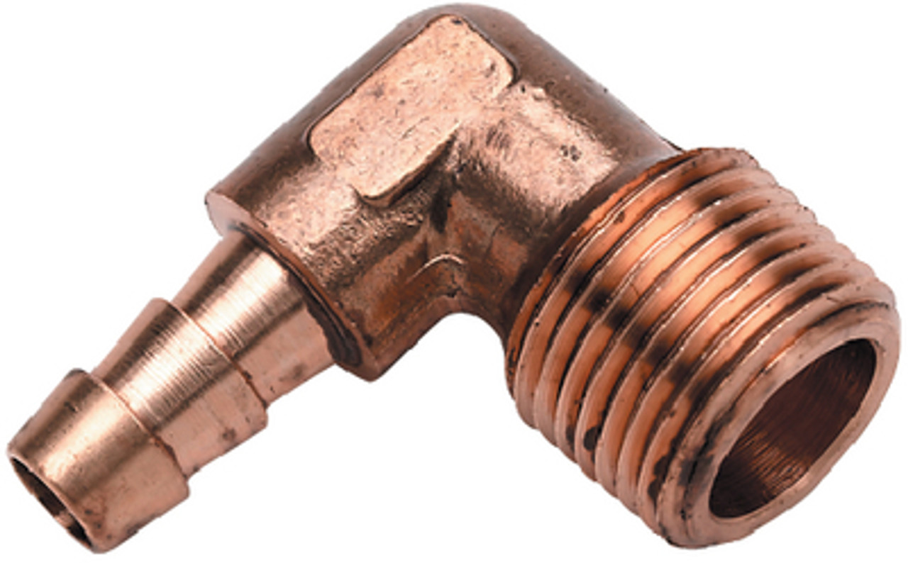 """Brass Fitting Fuel hose fitting 3//8/"""" ID hose to 1//4/"""" male NPT elbow"""