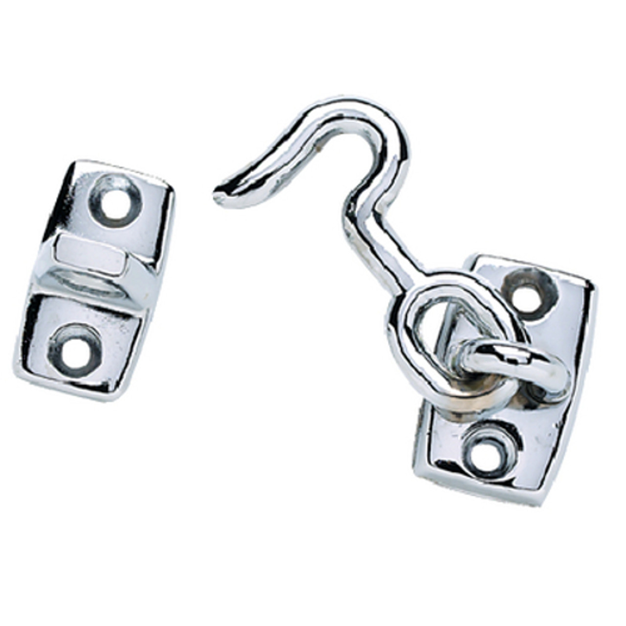 1-3/4 Inch Chrome Plated Zinc Cabin Door Hook for Boats, RVs and More