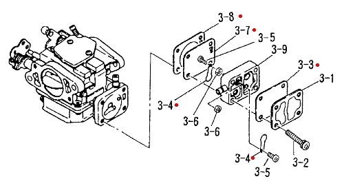 9950FPKIT Nissan & Tohatsu Fuel Pump Repair Kit
