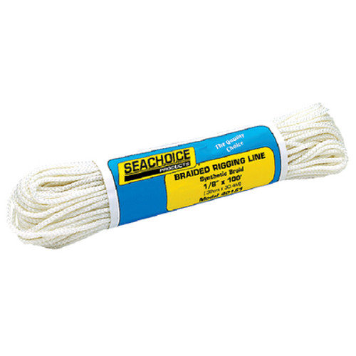 1/8 Inch x 100 Ft White Braided Outrigger Rigging and General Purpose Line