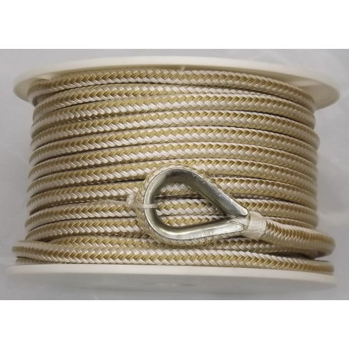 1/2 Inch x 100 Ft Double Braid Nylon Anchor Line for Boats - Multiple Colors Available