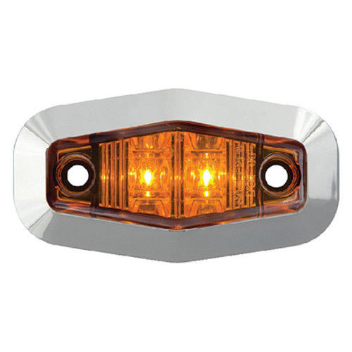 Mini Amber Submersible Sealed LED Boat Trailer Clearance and Side Marker Light