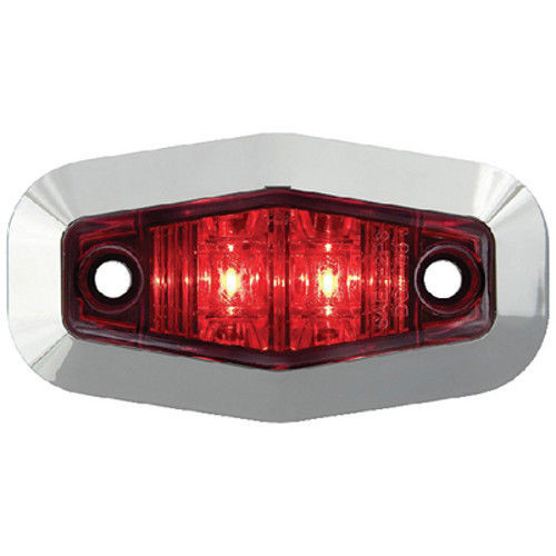 Red Submersible Mini Sealed LED Boat Trailer Side Marker and Clearance Light