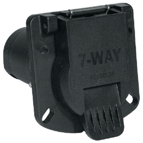 Heavy Duty 7 Way Round Tow Vehicle Side Socket Connector
