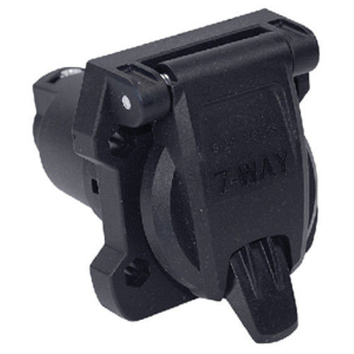 Extra Heavy Duty Round 7 Way Tow Vehicle Side Socket Connector
