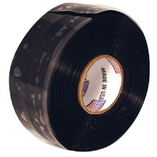 1 Inch x 10 Ft Black Silicone Self Fusing Tape for Boats - Waterproofing Seal