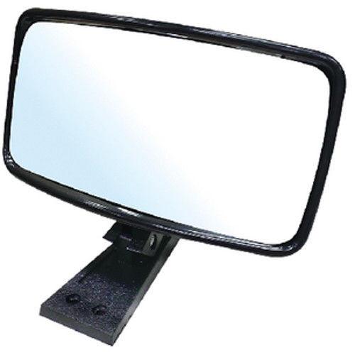 8 Inch Wide x 4 Inch High Universal Mount Black Colored Plastic Boat Ski Mirror