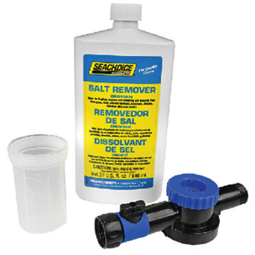 Seachoice Applicator and 32 oz Quart Bottle of Liquid Salt Remover with PTEF for Boats