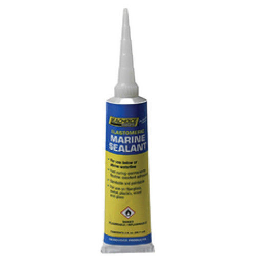 Seachoice 3 oz Clear Above or Below Waterline Elastomeric Marine Sealant for Boats