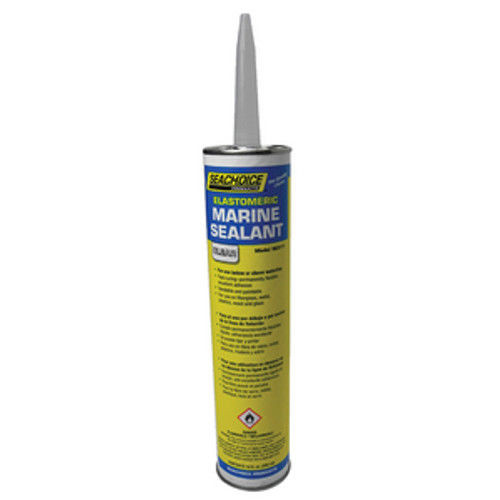 Seachoice 10 oz Clear Above or Below Waterline Elastomeric Marine Sealant for Boats