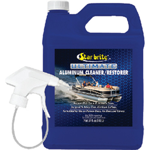 Star Brite Pontoon Boat Ultimate Aluminum Cleaner, Restorer and Polishing Kit