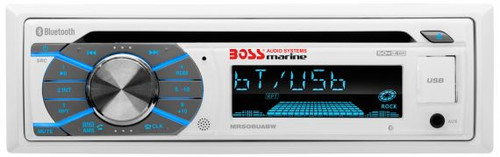 Boss Marine White CD / USB / SD / MP3 / WMA / AM / FM Bluetooth Marine Stereo Receiver