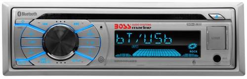 Boss Marine Silver CD / USB / SD / MP3 / WMA / AM / FM Bluetooth Marine Stereo Receiver